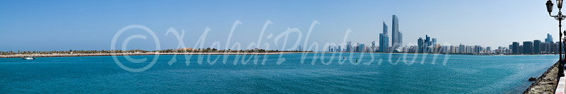 Abu Dhabi City; stitched with 17 portrait photos in PS.