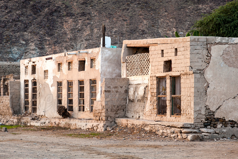 Old building demolished in Khor Fakkan.