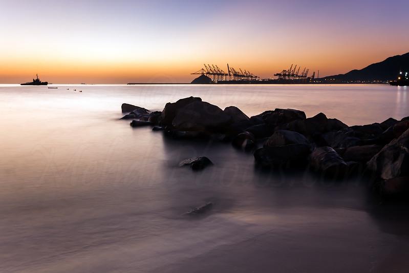 Khor Fakkan Port in Sunrise