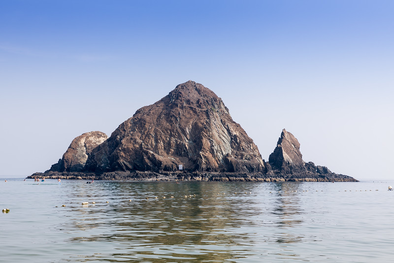 Snoopy island in the United Arab Emirates close to Fujairah and Khor Fakkan cities.