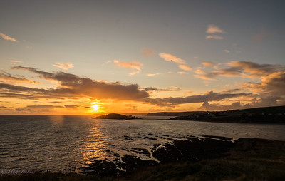 Sunset from the head at Bantham