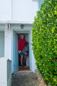 Gethin leaving our holiday cottage