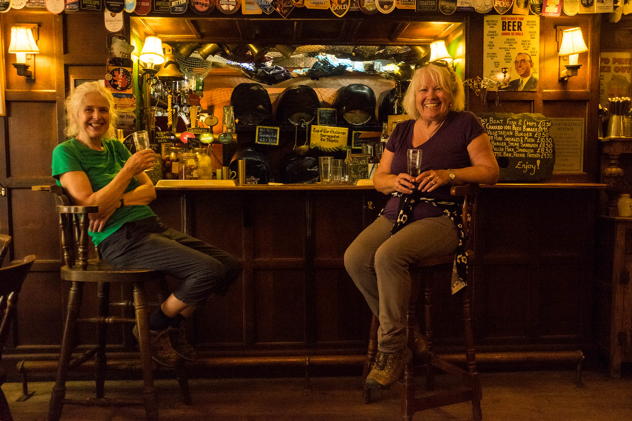 Hikers rehydrate at the Journeys End Pub in Ringmore