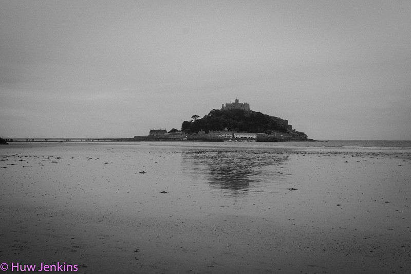 St Micheals Mount on a grey day
