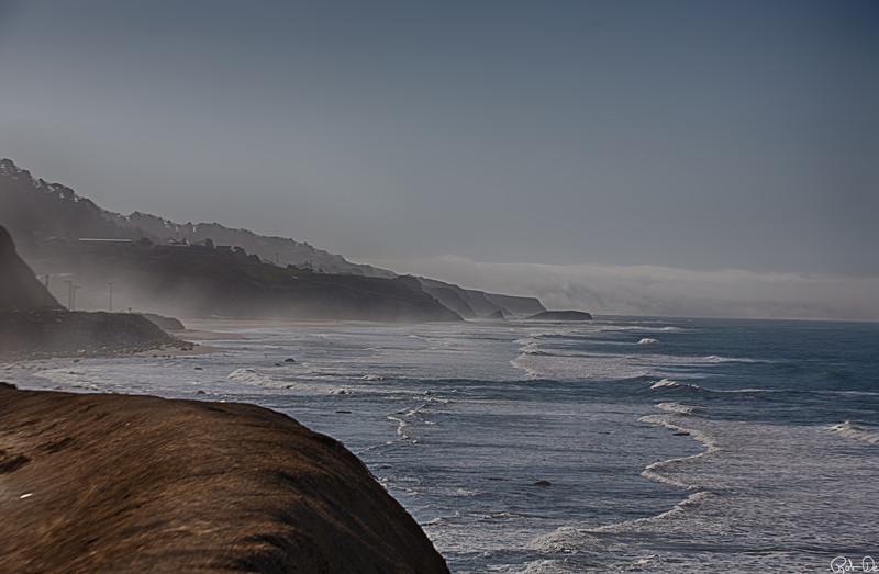 Mist on the coast