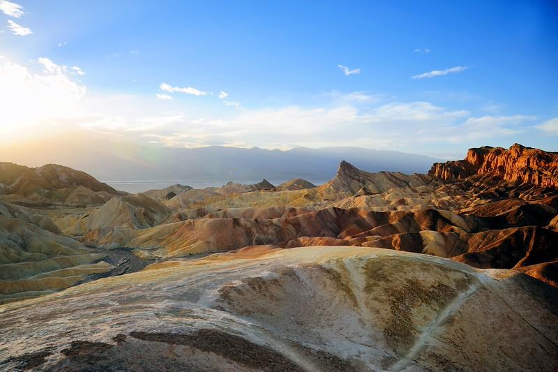 Zabriskie Point. Death Valley National Park.