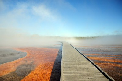 Walkway into the mist. Yellowstone National Park