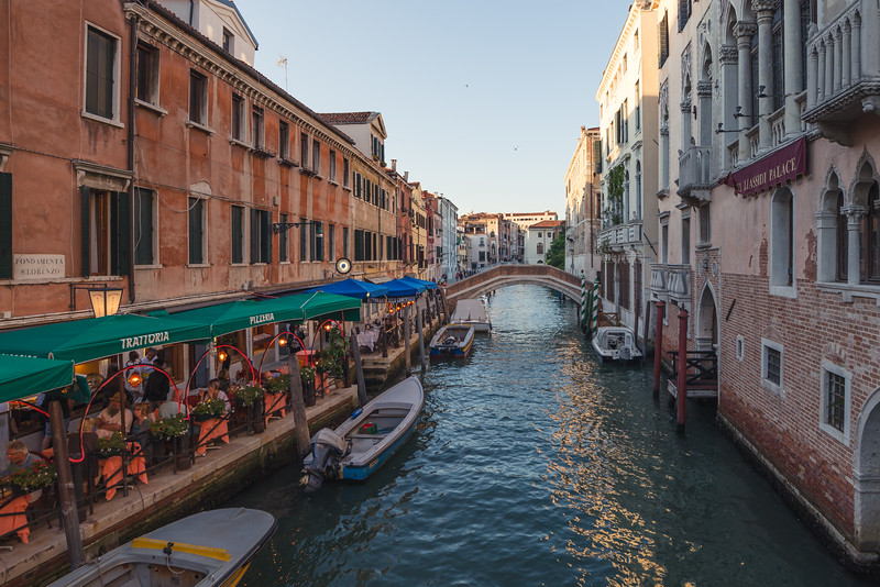 These canal front restaurants are found throughout the city of Venice and are a great place to watch the traffic go by as you enjoy your meal. If you're lucky enough you may even catch a singing Gondolier pass through!