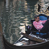 A Gondolier takes a break in the mid-afternoon. Gondola rides are iconic to Venice and cost between 80-100 Euros for 40 minutes.
