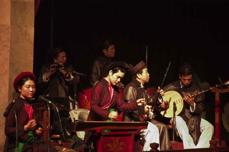 Water Puppet theater musicians.