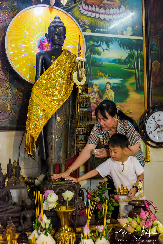 Inside the Ang Chorm Shrine in Siem Reap.
