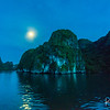 Nighttime on Halong Bay.