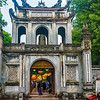 The ornate Temple of Literature in Hanoi.