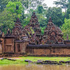 "The well-preserved temple of Banteay Srei, or ""Citadel of Women"", is known for its intricate stone carvings."