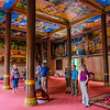 The interior of the Wat Thmei Pagoda.