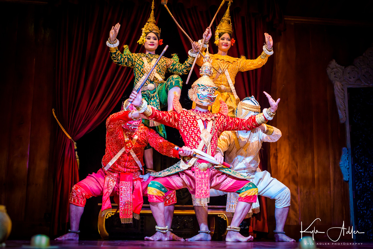 The victorious finale to the Apsara dance performance.