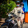 We traveled in Nha Trang the way Vietnamese locals do, aboard motor scooters.