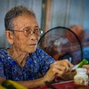 Another octogenarian demonstrates the preparation of betel nut in her home.  Many older Vietnamese women chew on betel nut.
