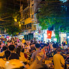 A busy night on the streets of Hanoi as youthful revelers celebrate the harvest moon.