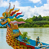 Cruising the Perfume River aboard a traditional dragon boat.