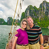 A glorious day on Halong Bay.