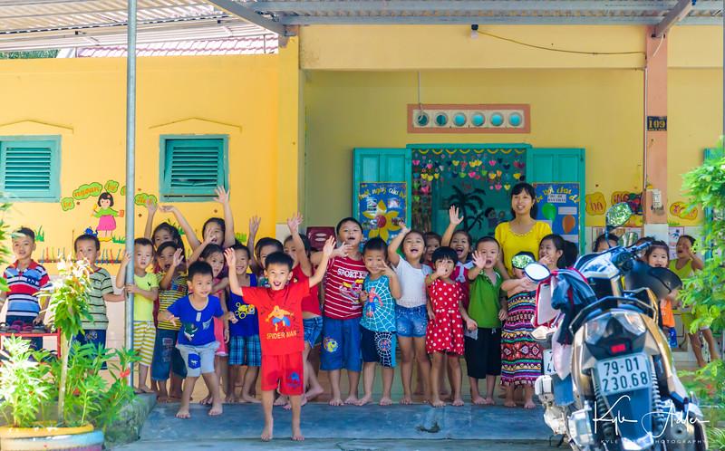 Visiting Dien Phu Kindergarten outside Nha Trang.