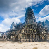 Ultra-wide-angle view of the entire Angkor Wat temple.