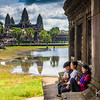 Angkor Wat viewed from across the moat.