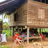 Village house outside Siem Reap.