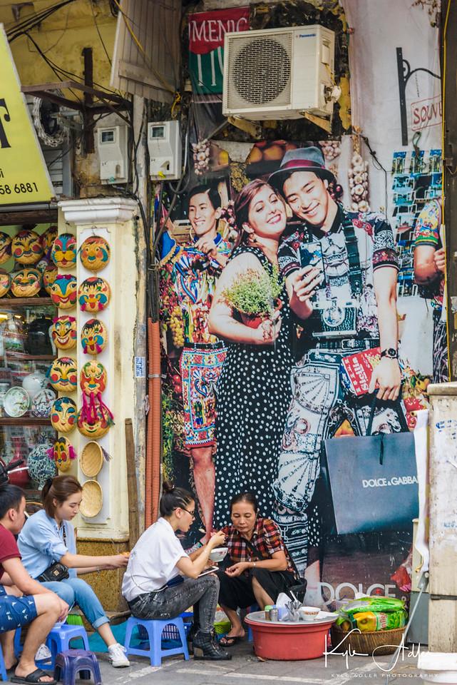 Hanoi street scene.