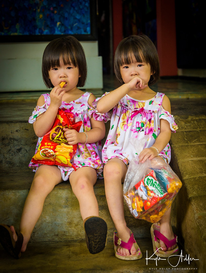 I chatted with these twin three-year-old cuties and their Mom as we browsed in her shop.