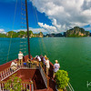 Setting sail on Halong Bay.