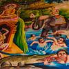 A mural in Siem Reap's Wat Thmei Pagoda.