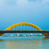 Da Nang's landmark dragon bridge.