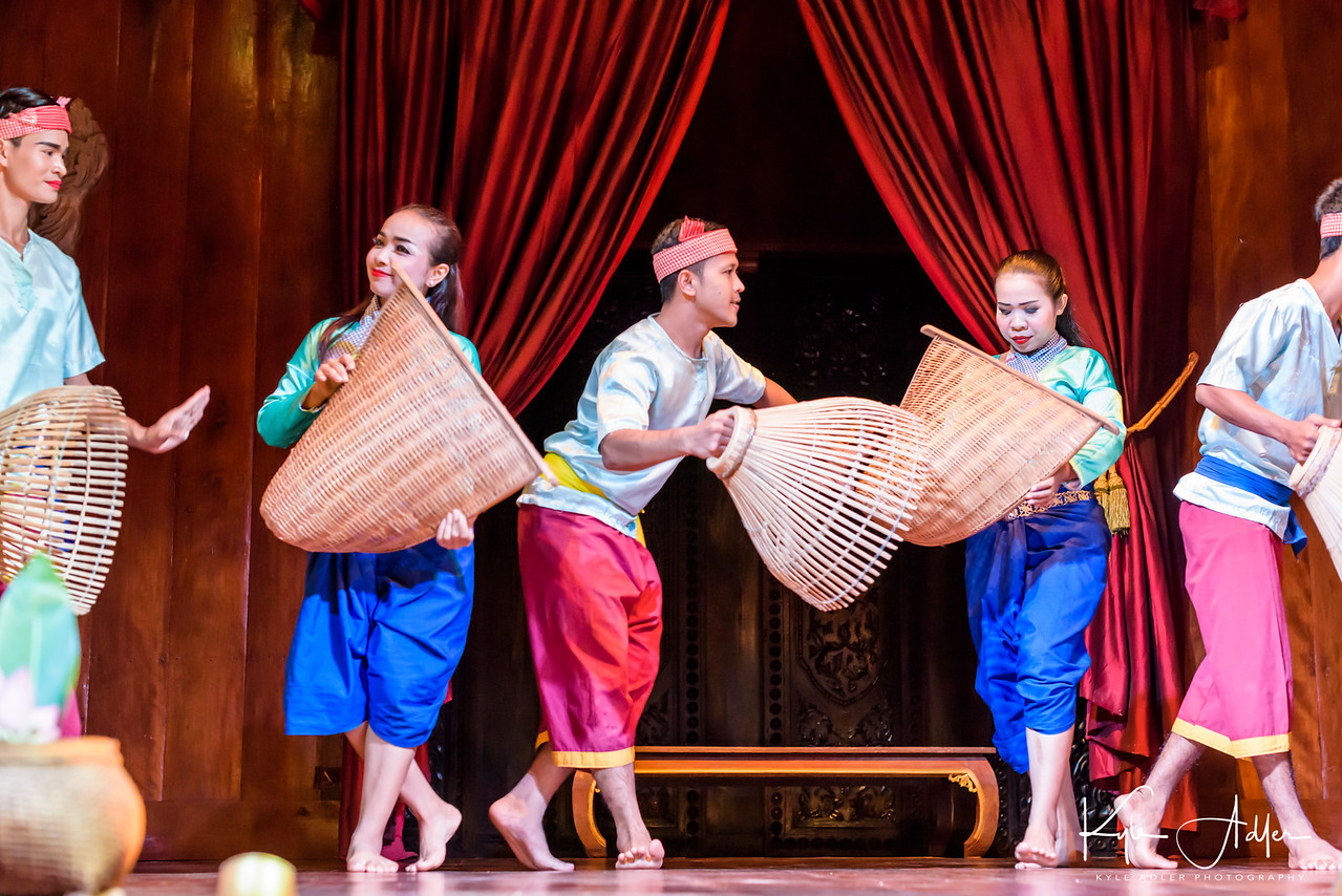 A pastoral village dance at the Apsara performance.