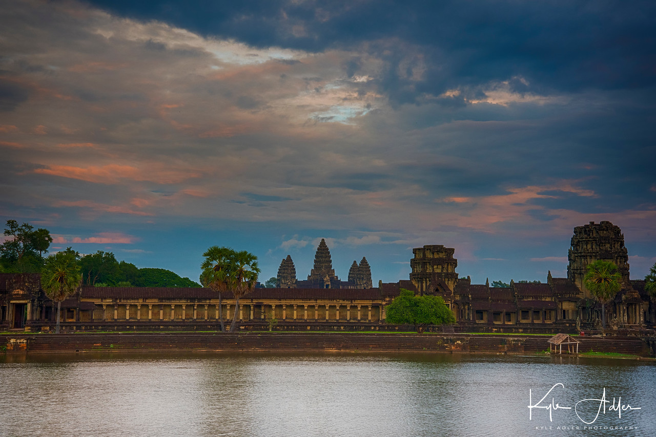 Sunset at Angkor Wat.