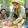 Upon arrival in Xom Gio Village, we learn about the main industry, making baskets from bamboo.