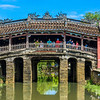 The landmark Japanese Friendship Bridge in Hoi An.