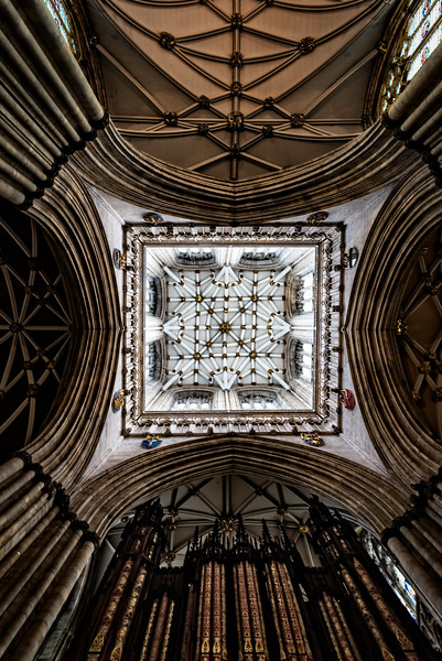 York Gothic Cathedral , looking up