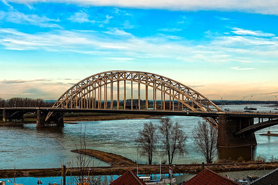 Waal Bridge in Nijmegen Netherlands