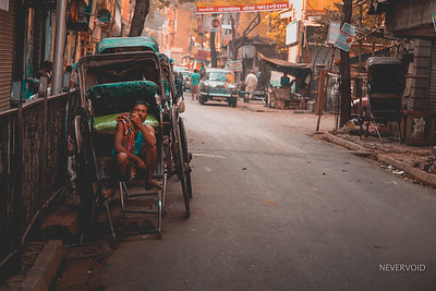 Tired Legs - Hand pulled rickshaw in Kolkata