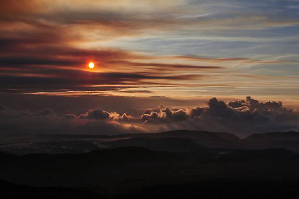Sunrise over Ambrym Island in Vanuatu.  Image by Bradley White.