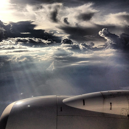 Up in the air, monsoon storm clouds over Mumbai. #skyart or #cloudporn?