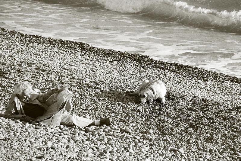 Man and His Dog - Nice, France