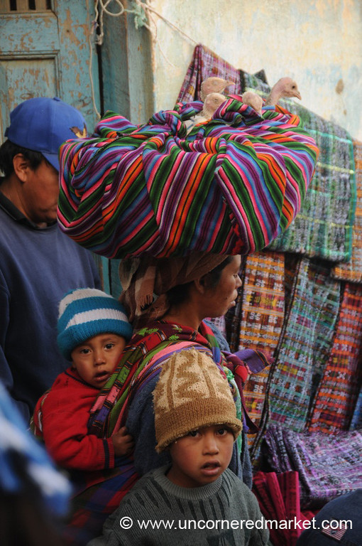 Birds in a Basket - San Francisco El Alto Market, Guatemala