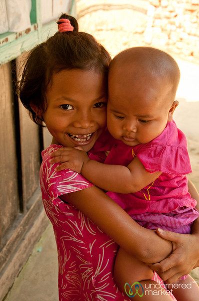 Khashia Baby and Young Girl - Outside Srimongal, Bangladesh