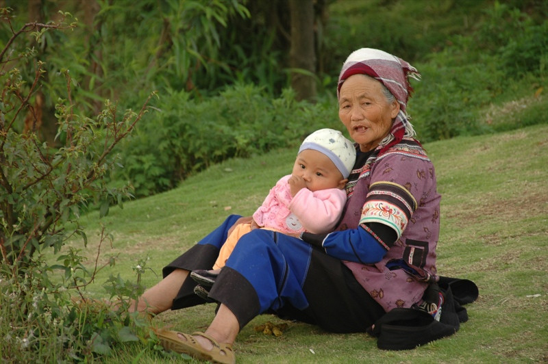 Hani Grandmother - Yunnan, China