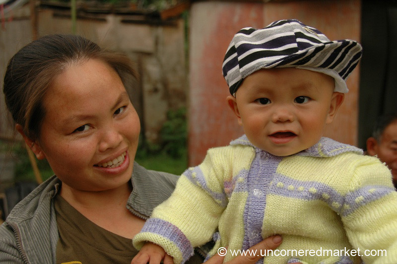 Chinese Mother and Baby - Guizhou Province, China