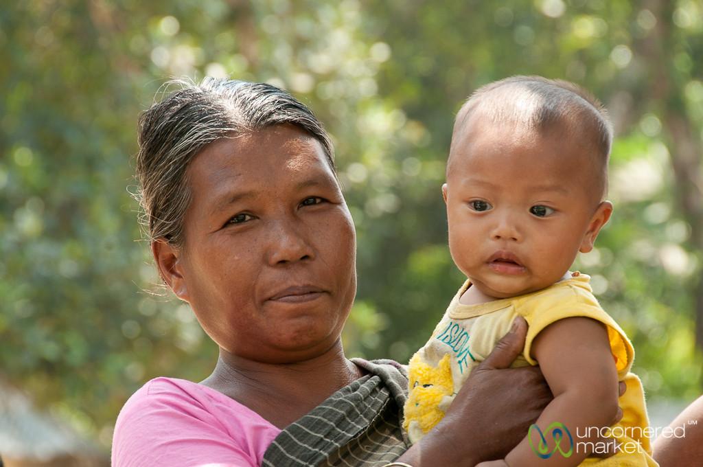 Garo Mother and Baby - Srimongal, Bangladesh