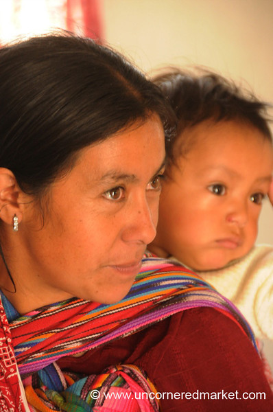 Kiva Borrower, Guatemalan Woman with Baby